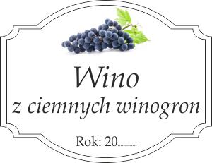 Etykiety Na Wino Z Ciemnych Winogron Domowe Przepisy
