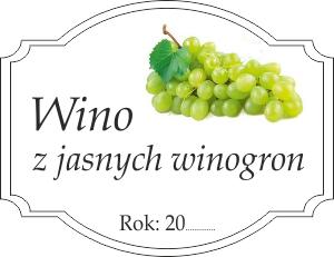 Etykiety Na Wino Z Jasnych Winogron Domowe Przepisy
